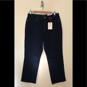 Lands End High Rise Straight Jean womens 12P 12 P
